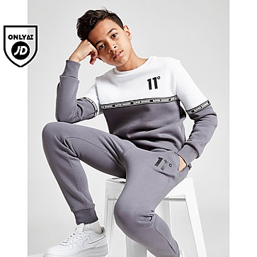 11 Degrees Cut & Sew Tape Crew Sweatshirt Junior