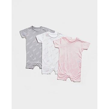 McKenzie Girls' 3-Pack Essential Print Babygrow Infant