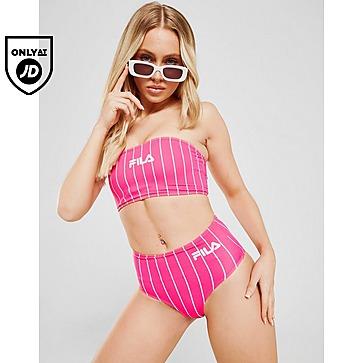 Fila Stripe Bandeau Bikini Top