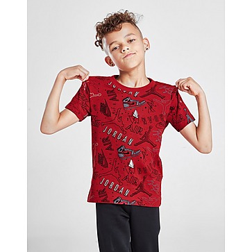 Jordan All Over Print Graphic T-Shirt Children