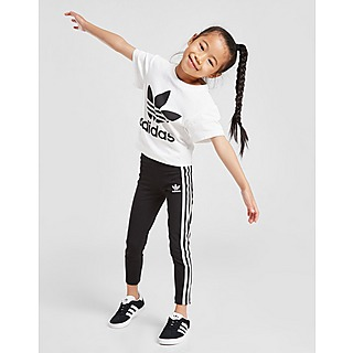 adidas Originals Girls' Trefoil 3-Stripes Leggings Children