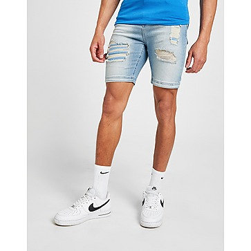 11 Degrees Distressed Denim Shorts