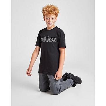 adidas Linear Outline Logo T-Shirt Junior