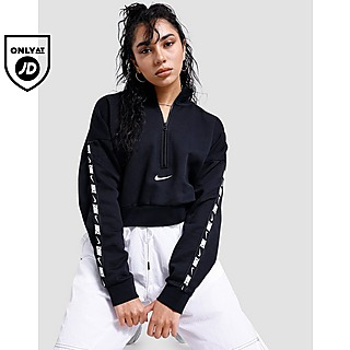 Nike Tape Logo 1/4 Zip Crop Top