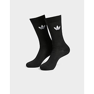eeb110f07d543 adidas Originals 2 Pack Thin Trefoil Crew Socks