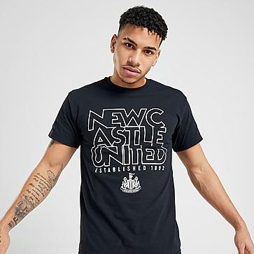Official Team Newcastle United EST 1892 T-Shirt Heren