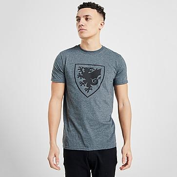 Official Team Wales Crest Short Sleeve T-Shirt Heren