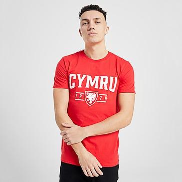 Official Team Wales Cymru Short Sleeve T-Shirt Heren