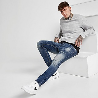 VALERE Washed Slim Jeans Heren
