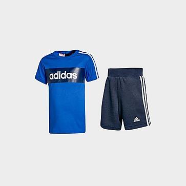 adidas Lineair essentieel T-shirt / short-set voor baby's