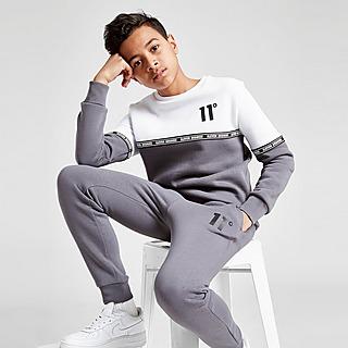 11 Degrees Cut & Sew Tape Crew Sweater Junior