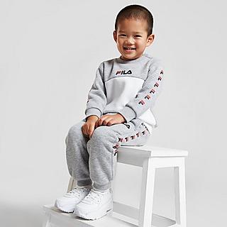 Fila Repeat Logo Colour Block Crew Tracksuit Infant