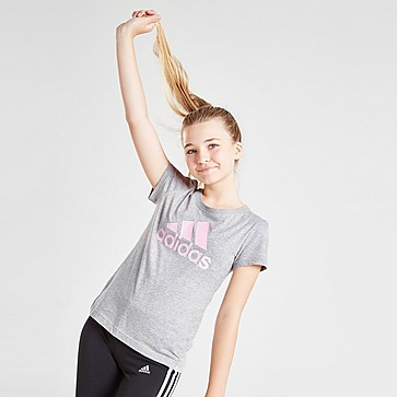 adidas Girls' Badge of Sport T-Shirt Junior