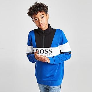 BOSS Colour Block 1/2 Zip Fleece Top Junior