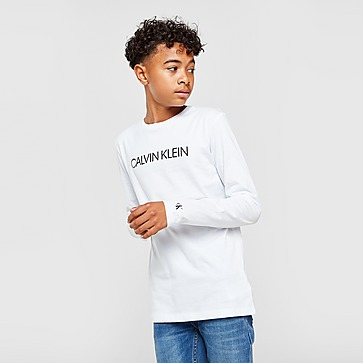 Calvin Klein Institutional Logo Long Sleeve T-Shirt Junior