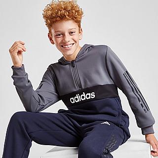 adidas Mixed Fabric 1/2 Zip Tracksuit Junior