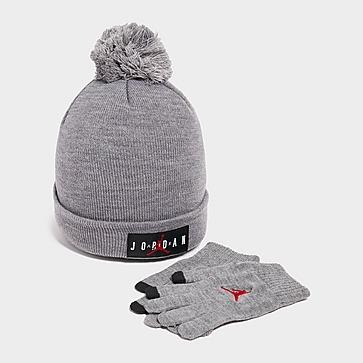 Jordan Pom Beanie Hat/Gloves Set