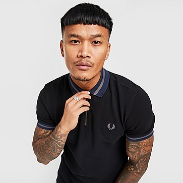 Fred Perry Contrast Collar Zip Polo Shirt