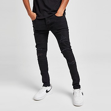 Brave Soul Skinny Heavy Rip Jeans Heren