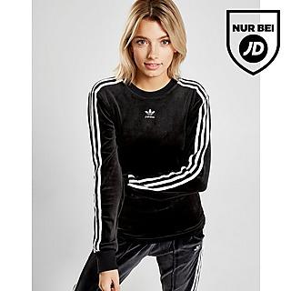 Details zu adidas Originals 3 Stripes Long Hoodie langes Sweatshirt Kapuzenpullover Blau