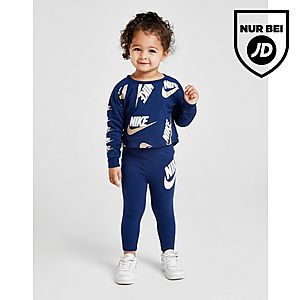 Nike Girls' Shine Print Crew/Leggings Set Infant