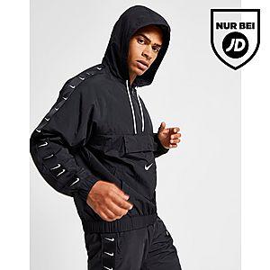 Verfeinerung Nike Air Max Woven Jacken Schwarz Herren