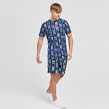 ILLUSIVE LONDON Floral Stripe T-Shirt Junior