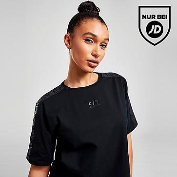 Emporio Armani EA7 Tape Crop T-Shirt Damen