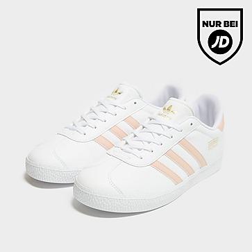 adidas Originals Gazelle J Wht/vapor Pnk$