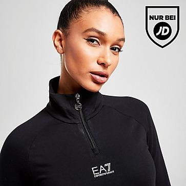 Emporio Armani EA7 Logo 1/4 Zip Trainingsoberteil Damen