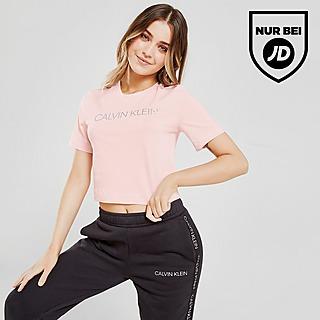 Calvin Klein Performance Logo Slim Crop T-Shirt Damen