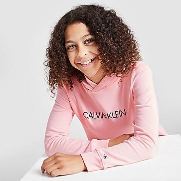 Calvin Klein Girls' Institutional Logo Hoodie Kinder