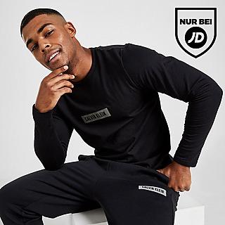 Calvin Klein Centre Box Langarmshirt  T-Shirt Herren