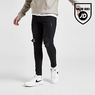 VALERE Skinny Ripped Jeans Herren