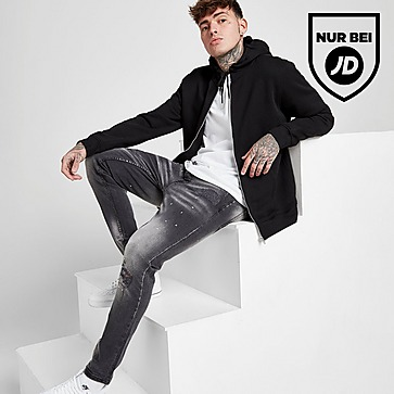 VALERE Washed Slim Jeans Herren