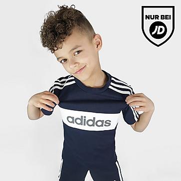 adidas Linear Essential T-Shirt/Shorts Set Kleinkinder