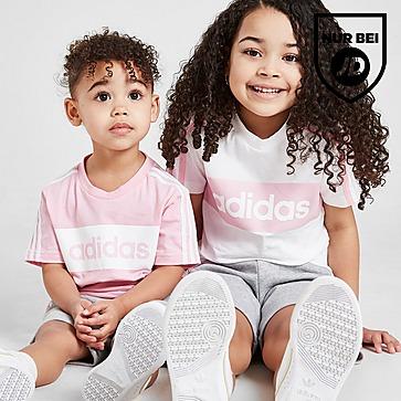 adidas Girls' Linear Essential T-Shirt/Shorts Set Baby