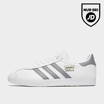 adidas Gazelle Wht/gry/gld$