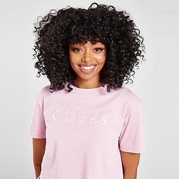 GUESS Satin Logo Crop T-Shirt Damen