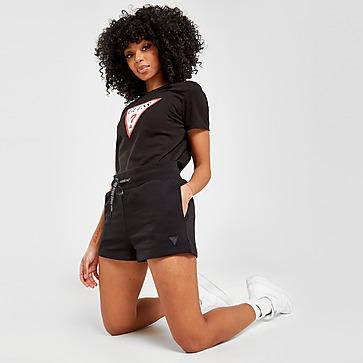 GUESS Triangle Logo Fleece Shorts Damen