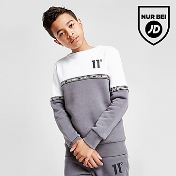 11 Degrees Cut & Sew Tape Crew Sweatshirt Kinder