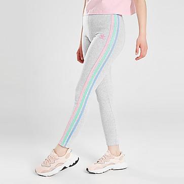 adidas Originals Girls' Tricolour 3-Stripes Leggings Kinder