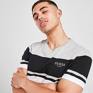 Guess Colour Block Stripe T-Shirt Herren