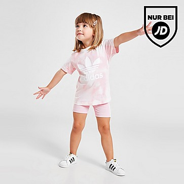adidas Originals Girls' Tie Dye T-Shirt/Cycle Shorts Set Baby