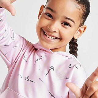 Nike Girls' All Over Print Swoosh Hoodie Kleinkinder