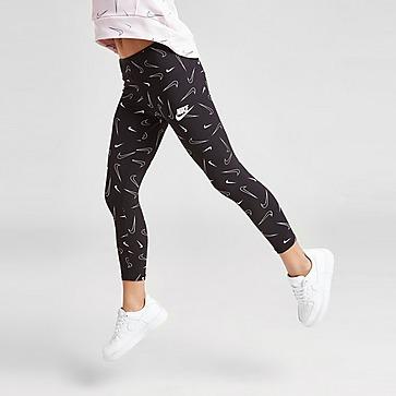 Nike Girls' All Over Print Swoosh Leggings Kleinkinder