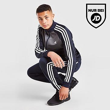 adidas 3-Stripes Poly Full Zip Trainingsanzug Kinder