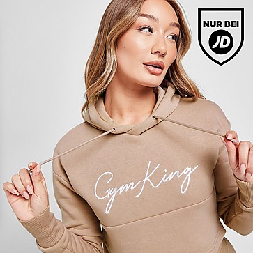 Gym King Sky Crop Logo Hoodie Damen