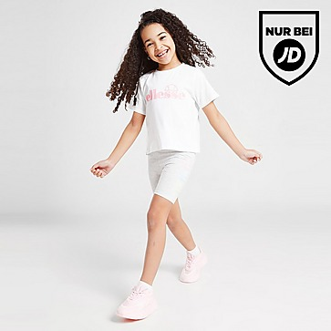 Ellesse Girls' Virina T-Shirt/Cycle Shorts Set Kleinkinder