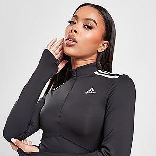 adidas Shine 1/4 Zip Langarmshirt Training Damen